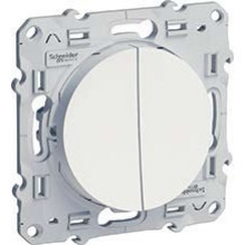 Schneider-Electric Odace Выключатель    белый S52R211